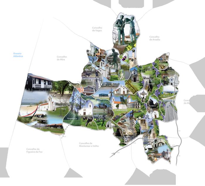 mapa do concelho de cantanhede Turismo em Cantanhede : Município de Cantanhede mapa do concelho de cantanhede