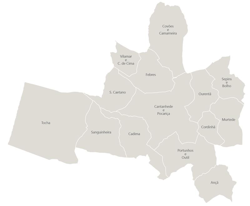 mapa do concelho de cantanhede Juntas de Freguesia : Município de Cantanhede mapa do concelho de cantanhede